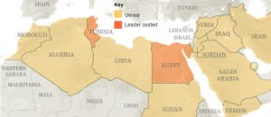 [Image: Arab and Middle East revolt - State of protests]